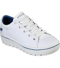 zapatos mujer  street cleat-bring it back blanco skechers
