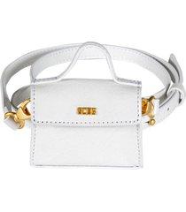 gcds logo plaque flap shoulder bag