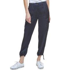 dkny drawstring-hem cargo pants