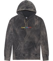 sudadera con capucha converse treatment fleece black