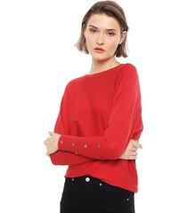sweater ellus rojo - calce holgado