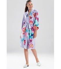 natori peonia sleep & lounge bath wrap robe, women's, size xs