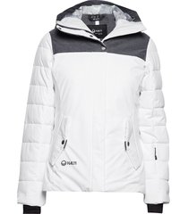 kilta w dx warm ski jacket fodrad jacka vit halti