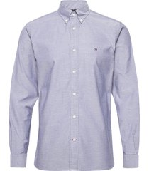 flex refined oxford shirt overhemd casual blauw tommy hilfiger