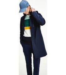 tommy hilfiger men's hooded tech car coat navy - xs