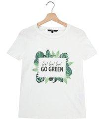 camiseta blanca-multicolor vero moda