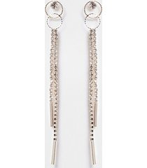 river island womens rose gold double ring cup chain drop earring