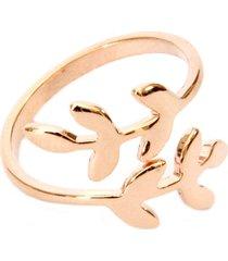 anel lovelee acessórios delicado flor ii rosê