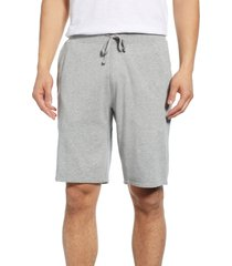 men's reigning champ fleece athletic shorts, size small - grey
