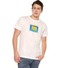 camiseta blanco-multicolor jack & jones