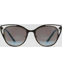 óculos de sol gatinho feminino yessica prateado