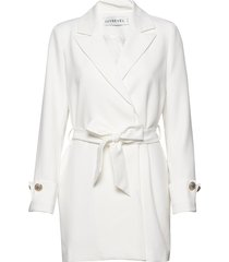 tied waist blazer dress kort klänning vit ivyrevel