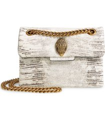 kurt geiger london mini kensington x leather shoulder bag - white