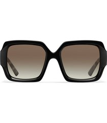 prada eyewear tortoise arm square sunglasses - grey