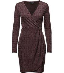 linear jazquard ls vnk dress dresses wrap dresses rosa french connection