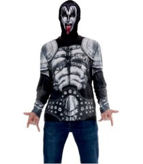 buyseasons men's kiss mask and tee combo adult shirt