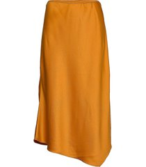 ezmay drape midi skirt rok knielengte oranje french connection
