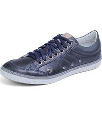 sapatênis azul escuro bmbrasil - navy 750-03