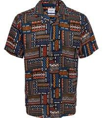 aztec aop viscose shirt