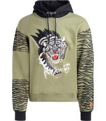 green kenzo sweatshirt for kansaiyamamoto with black panther print