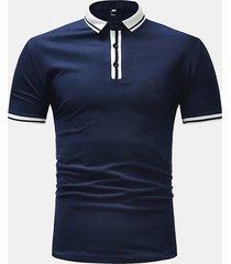 camicia da golf a maniche corte per uomo, da uomo, da uomo