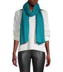 portolano women's ribbed wrap scarf - teal