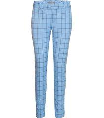 abbey ocean pant pantalon met rechte pijpen blauw mos mosh