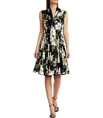 sleeveless floral overlay dress