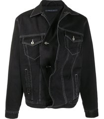 y/project twisted denim jacket - black