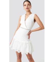 trendyol brocade mini dress - white