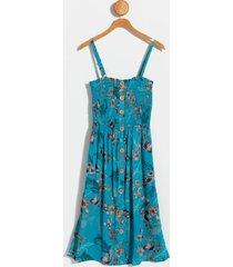 anita smocked top dress - teal