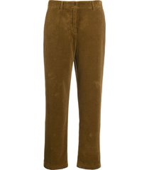 aspesi straight fit corduroy trousers - brown