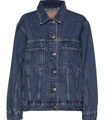 50_50 trucker jacket jeansjack denimjack blauw superdry
