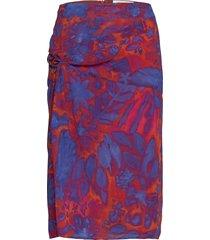 mitzah p knälång kjol blå tiger of sweden