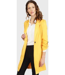 chaqueta io  gabardina amarillo - calce regular