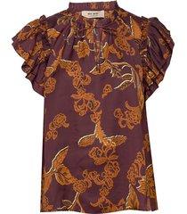 tea africa blouse ss blouses short-sleeved bruin mos mosh