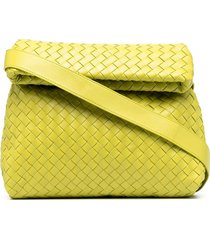 bottega veneta intrecciato crossbody bag - green
