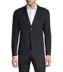 saks fifth avenue men's standard-fit ponte blazer - caviar - size m