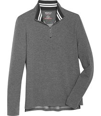 awearness kenneth cole men's awear-tech modern fit long sleeve 1/4 zip shirt dark gray - size: xxl
