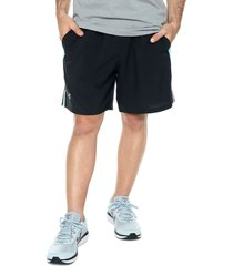 pantaloneta negro-azul under armour ua launch sw 7'' short