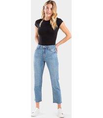 harper heritage frayed vintage straight jeans - lite