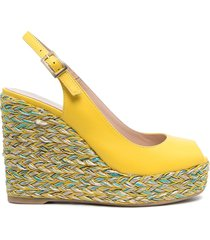 paul warmer wedge slingback sandals - yellow