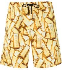 billionaire gold bar swim shorts - yellow