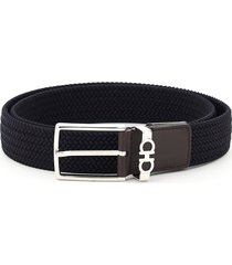 salvatore ferragamo strings & tassel elastic belt
