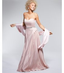say yes to the prom juniors' beaded-waist strapless gown, created for macy's