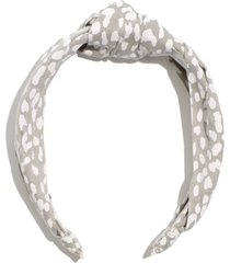 madewell knotted covered headband, size one size - green