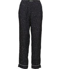 amélie printed trousers casual byxor svart morris lady