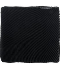 capucci micro pleated scarf - black