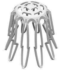 grelha hemisférica flexível 88x100mm branca