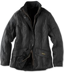 barbour cavalry polarquilt jacket, black, 4